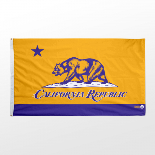 California flag 3x5 Lakers