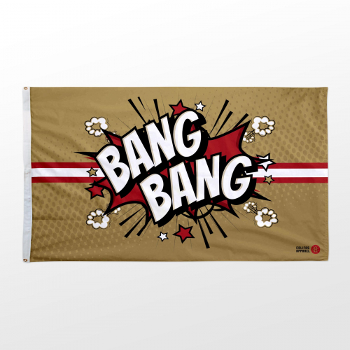 California flag 3x5 Niners Bang Bang