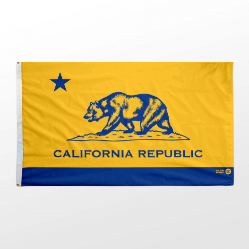 California flag 3x5 Warriors