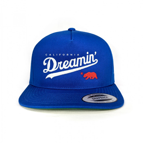 California Dreamin snapback dodger blue front