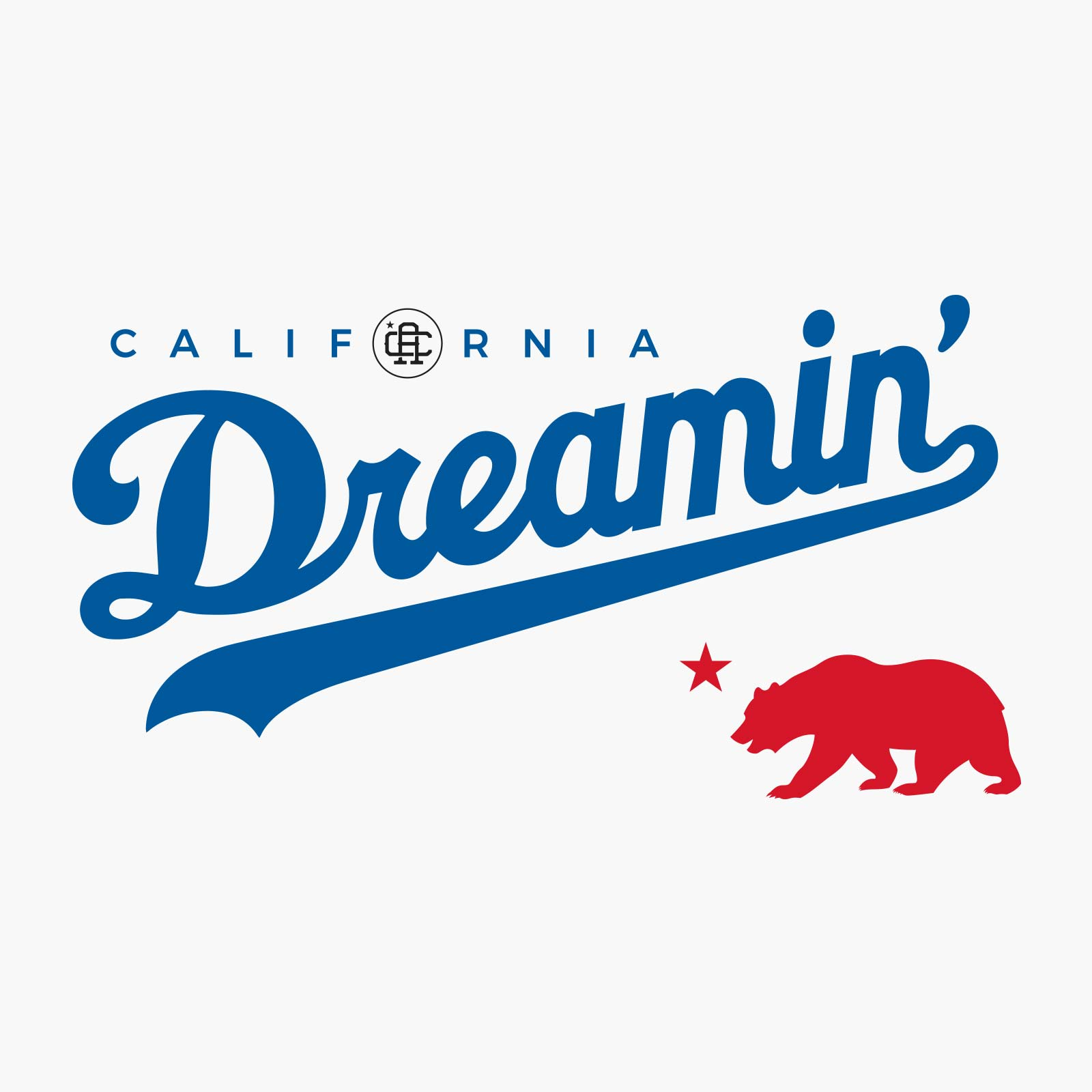 Califas Apparel design 1600 California Dream grizzly bear