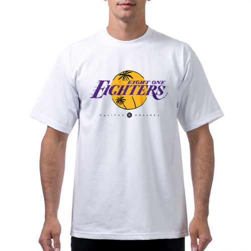 tshirt ProClub Lakers 818 white